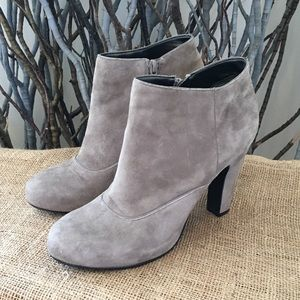 Nine West Grey Suede Ankle Boots